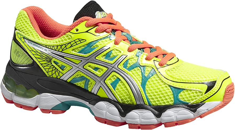 Asics Running Gel-Nimbus 16 Gs Yell/Silv/Grn 38 Junior: Amazon.es: Zapatos y complementos