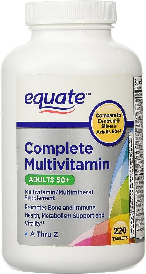 Amazon Com Equate Mature Adults 50 Multivitamin 220 C Health Personal Care