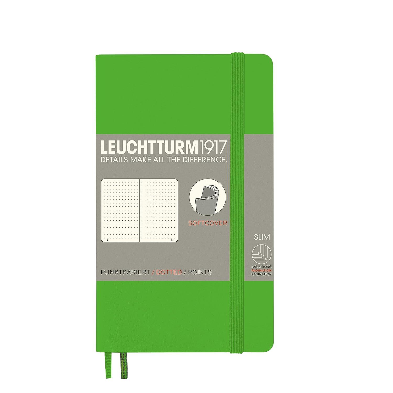 Leuchtturm 1917 - Cuaderno de tapa blanda, color verde (fresh green) A6 (bolsillo)