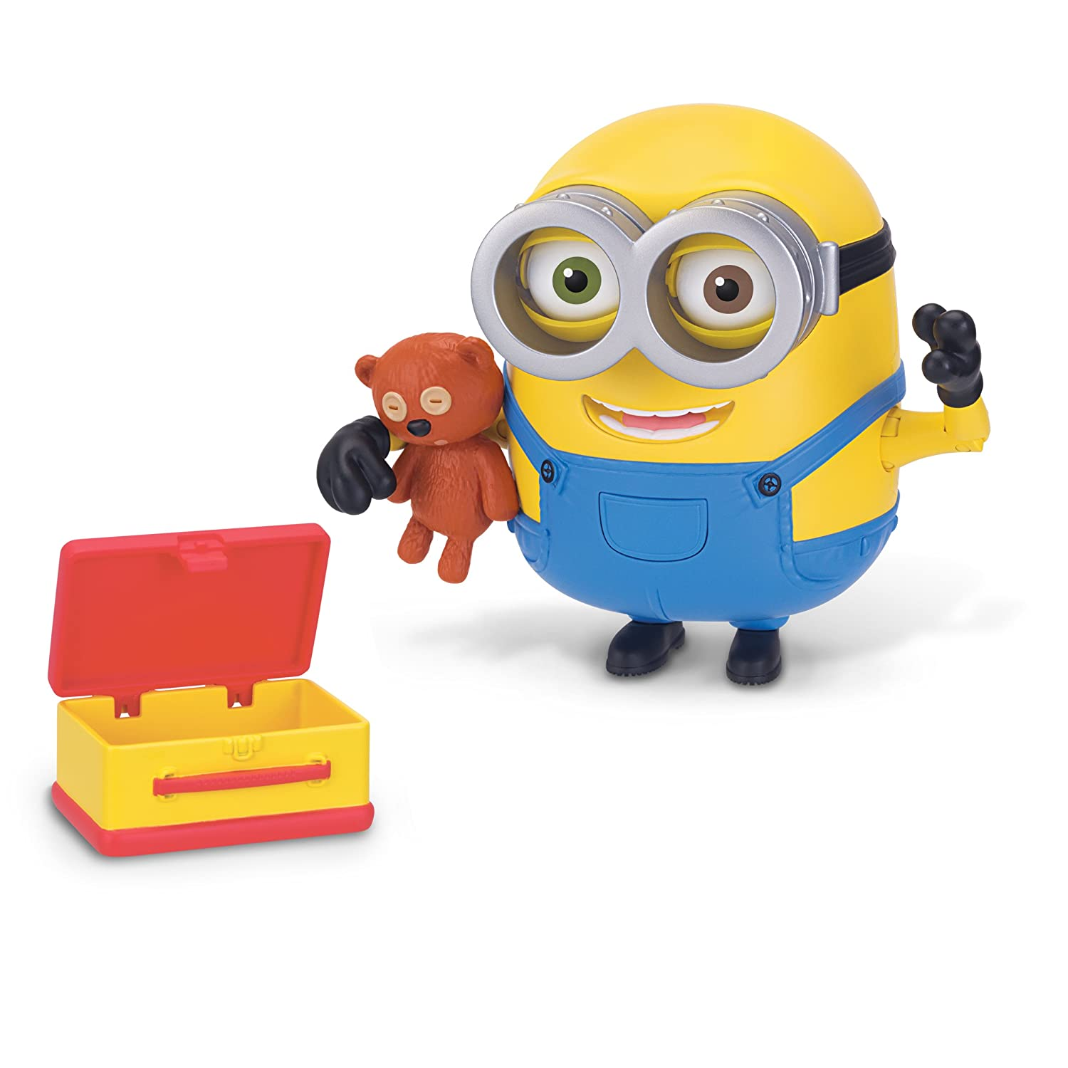 Amazon.com: Despicable Me Minions Deluxe Action Figure   Bob With Teddy  Bear: Toys U0026 Games