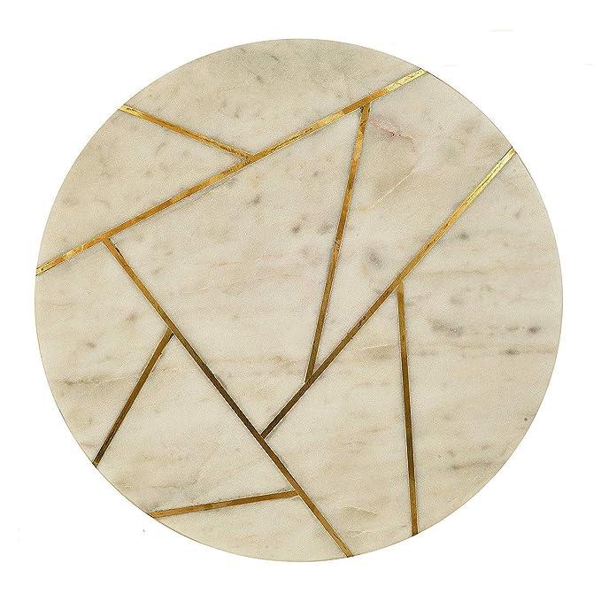 Amazon.com: GAURI KOHLI Hermoso tablero de queso de mármol y ...