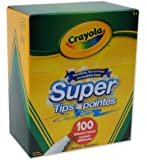 Crayola Super Tips Washable Markers, 100 Count, Bulk, Great for Kids and Adult Colouring,  Easter Basket Stuffers