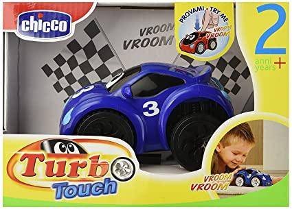 Chicco - Turbo Touch, Fast Blue, coche de cuerda (00061780000000)