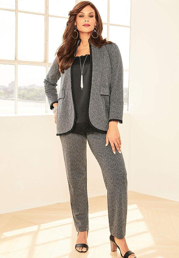Amazon.com: Roamans - Pantalón para mujer (talla grande, 2 ...