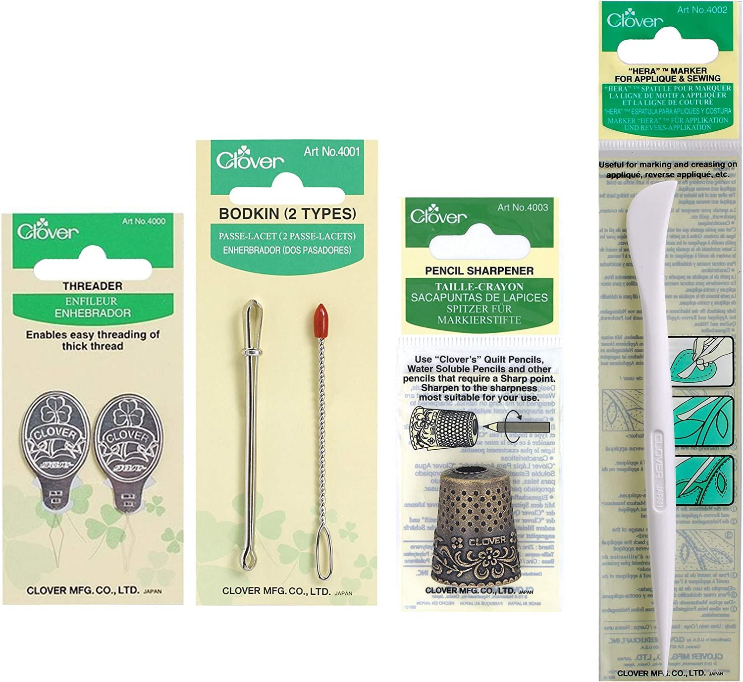Clover Hera Fabric Marker Spatule For Quilting Work 490//NV