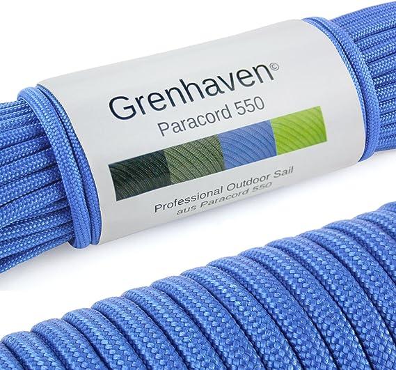 Grenhaven - 31 Metros m Soporta 250 Kilogramo kg 550 lbs Cuerda de Paracaídas - para Kit de Supervivencia - 7 Resistentes Hebras - Apta para Escalar - ...