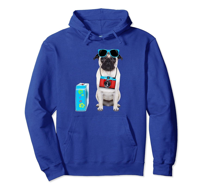 Cute Summer Holiday Vacation Pug Dog Travel T-Shirt Hoodie-AZP
