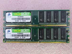 Corsair VS1GB400C3 2GB 2 x 1GB PC3200U DDR 400 Non-ECC Unbuff Desktop Memory Kit