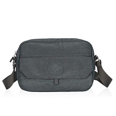 6df0d0e935fa Hynes Eagle Travel Small Crossbody Bag Casual Lightweight Messenger Bag Grey
