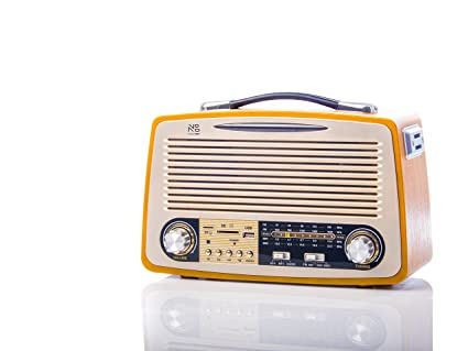 Noizzy Box Retro XL FT-1700BT Vintage Style Speaker with  MP3/MP4/FM/Bluetooth/AUX/TF Card/DSP Radio/USB (Golden)