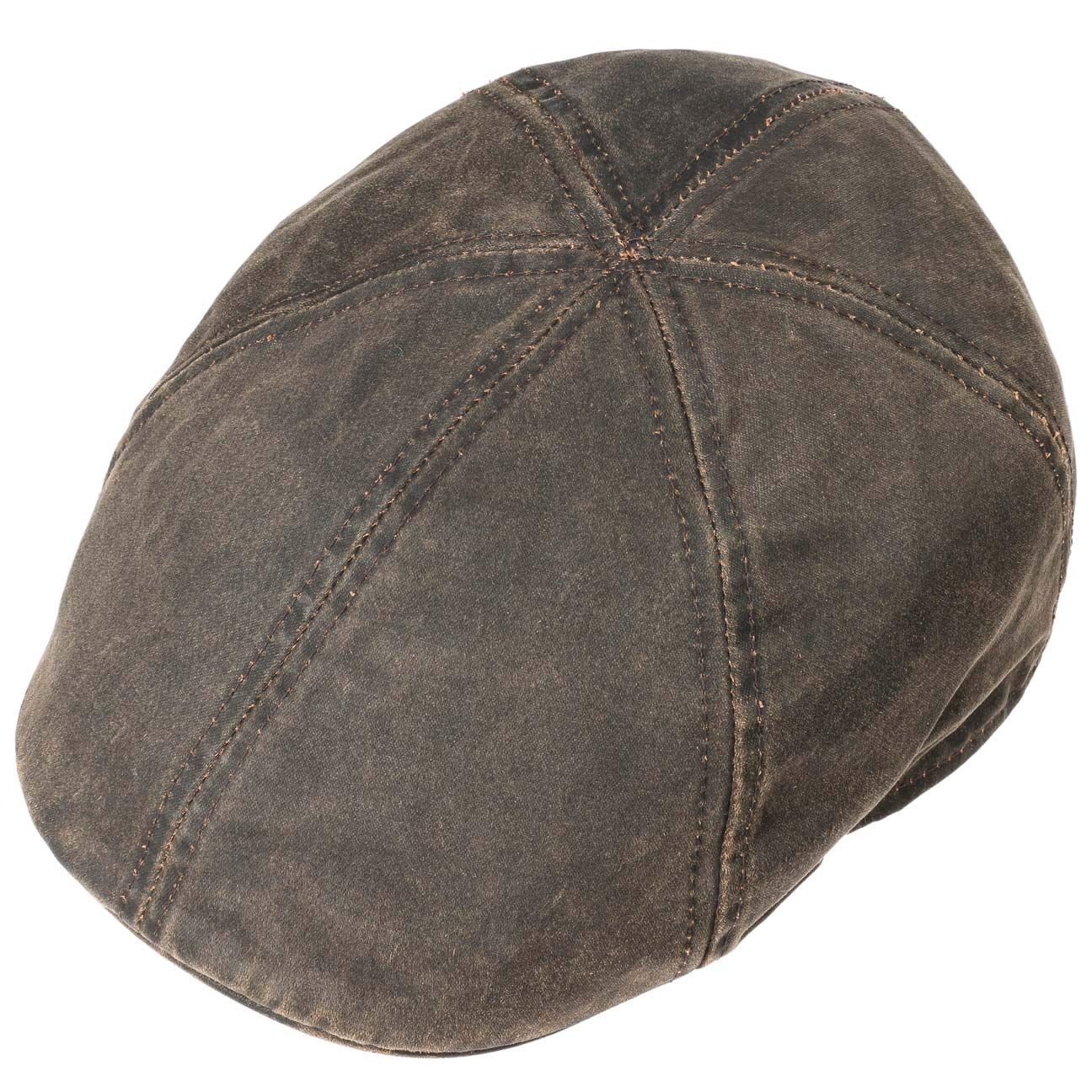 Stetson Mens Weathered Cotton Duck Ivy Cap (Brown, M) at Amazon Mens Clothing store: