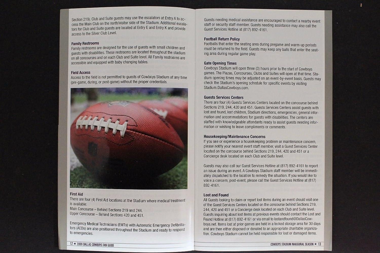 Dallas Cowboys 2009 Inaugural Season Fan Guide Program AT&T Stadium 17G at Amazons Sports Collectibles Store