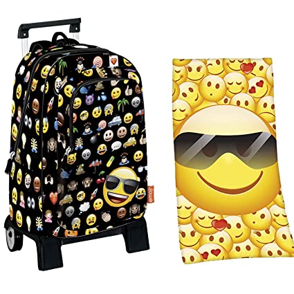 emotix Trolley Mochila 43 x 32 x 14 Icon Emoji Emoticon + Toalla Toalla (9