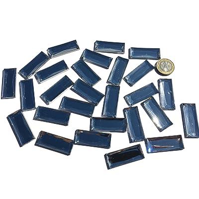 27Lot de 40mm x 15mm transparent scintillantes de petites pierres en acrylique clair mosaïque Transparent Mélange Décoration strass pour couvrir strass rectangulaire acrylique Pierres Opal