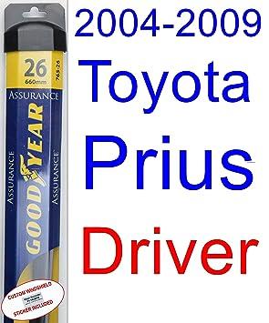 2004 - 2009 Toyota Prius hoja de limpiaparabrisas de repuesto Set/Kit (Goodyear limpiaparabrisas blades-assurance) (2005,2006,2007,2008): Amazon.es: Coche y ...
