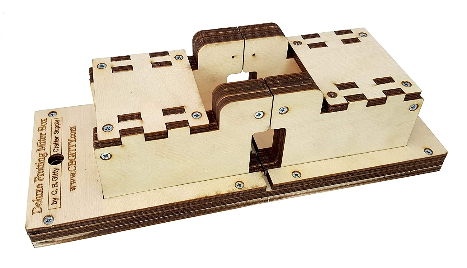Deluxe Fretting Miter Box Kit - Cut Perfect Fret Slots in Necks and Fretboards C. B. Gitty Crafter Supply