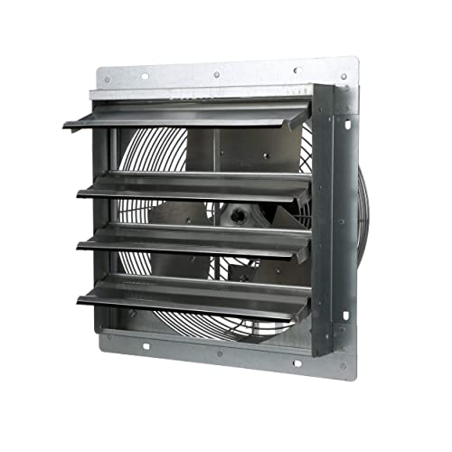 TPI Corporation CE14-DS Direct Drive Exhaust Fan, Shutter Mounted, Single Phase, 14 Diameter, 120 Volt