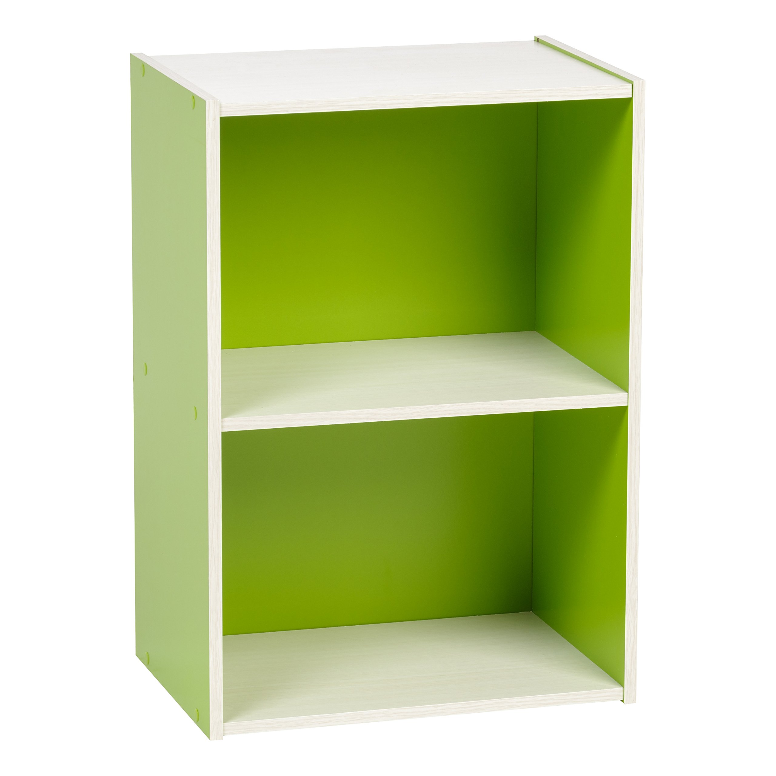 IRIS 2-Tier Wood Storage Shelf, Green