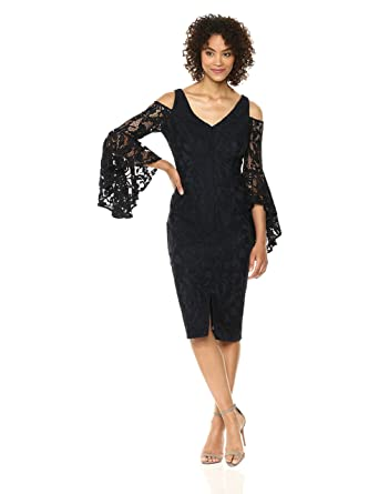 026eecf058 Maggy London Scarlette Cold Shoulder Midi at Amazon Women's Clothing store: