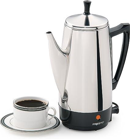 Amazon.com: Cafetera eléctrica Presto, de acero ...