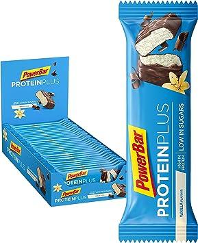 Powerbar Protein Plus Low Sugar Vainilla - Barritas Proteinas con Bajo Nivel de Azucar - 30 Barras 1005 g
