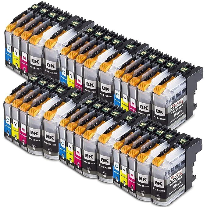 10x Cartucho de tinta Compatible con Brother LC223 Trabajar con Brother DCP-J562DW DCP-J4120DW MFC-J480DW MFC-J5620DW MFC-J5320DW MFC-J5600 MFC-J1100 ...