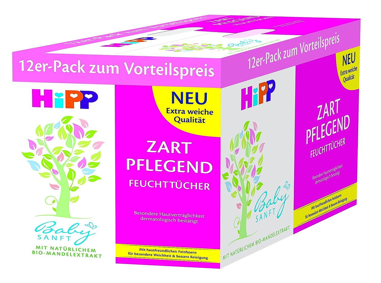 HiPP Babysanft Feuchttücher 12er Pack (12 x 56 Stück) 9887