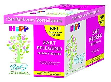 Paquete de toallitas húmedas HiPP Babysanft de 12 (12 x 56 piezas)