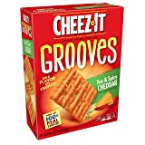 Cheez-It Grooves Crispy Cheese Cracker Chips, Hot