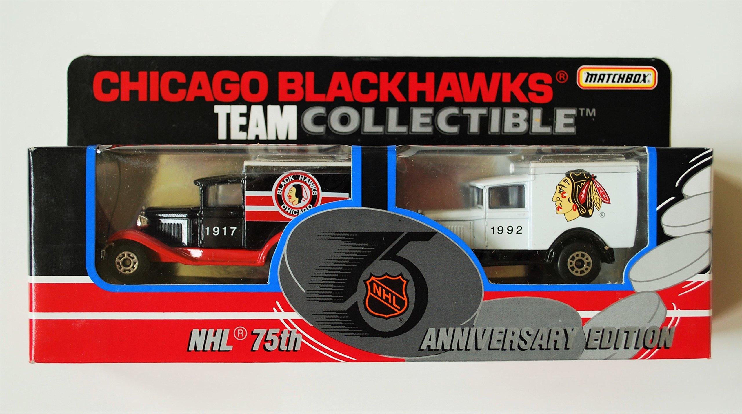 1992 Matchbox NHL Team Collectible 1:64 Scale Die Cast 2 Piece Truck Set CHICAGO BLACKHAWKS