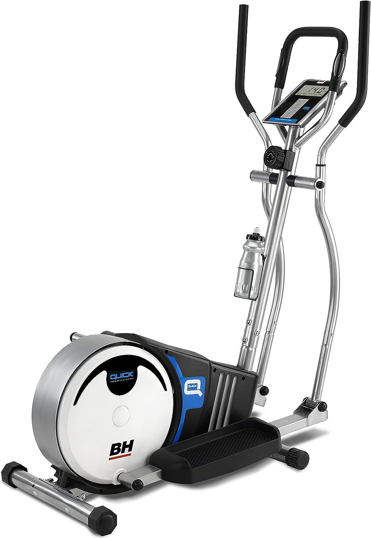 PROACTION Bicicleta Elíptica BH Quick. Sistema inercial 8kg. Freno magnético. Zancada 36cm. Distancia Entre Pedales 18cm. Monitor LCD. Blanco Gris. BH Fitness G233N