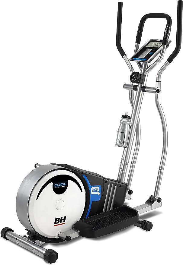 PROACTION Bicicleta Elíptica BH Quick. Sistema inercial 8kg. Freno magnético. Zancada 36cm. Distancia Entre Pedales 18cm. Monitor LCD. Blanco Gris. BH Fitness G233N: Amazon.es: Deportes y aire libre