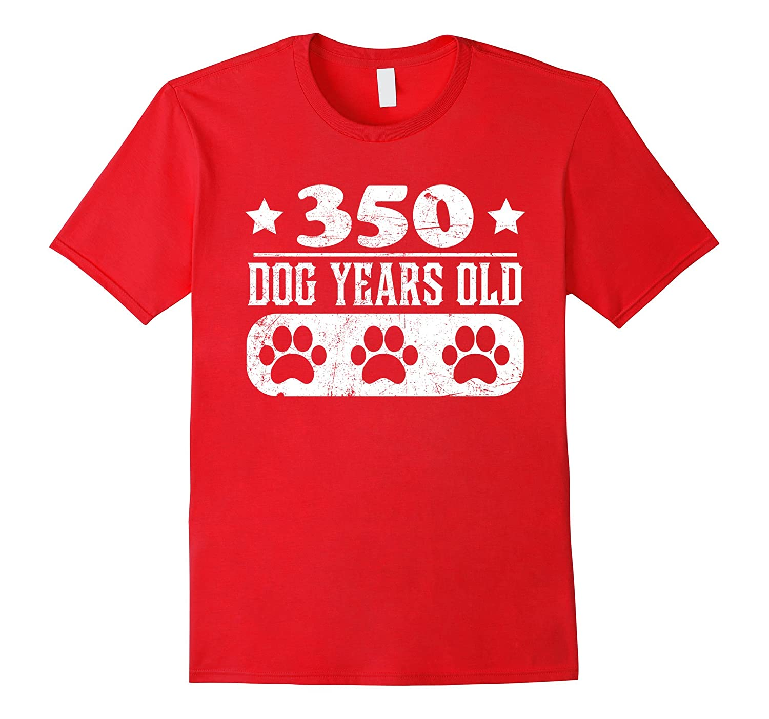 350 Dog Years Old Shirt 50th Birthday funny Gift shirt-TH