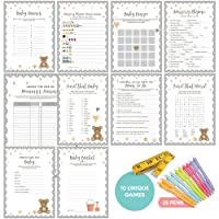 Baby Shower Games (New and Improved) - Ultimate Gender Neutral Kit | Contains 10...