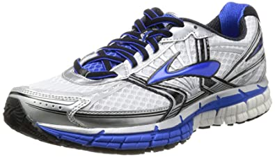 bfe2ab074e1 Brooks Men s Adrenaline GTS 14 Running Shoes 1101581D177  White Electric Silver 6.5 UK