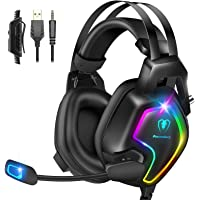 Gaming Headset for PS4 PC Xbox One Controller, Professional PS4 Headset with 7.1 Surround Sound, Noise Cancelling Mic…