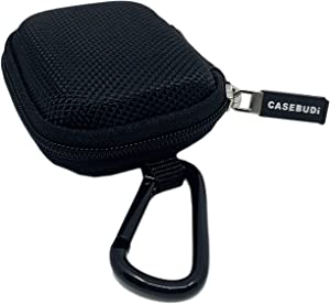 CASEBUDi Protective Form Fitting Case Compatible with Apple AirPods Pro   Key Ring and Carabineer Included   Use as Keychain   Ballistic Nylon with Impact Protection (Black)