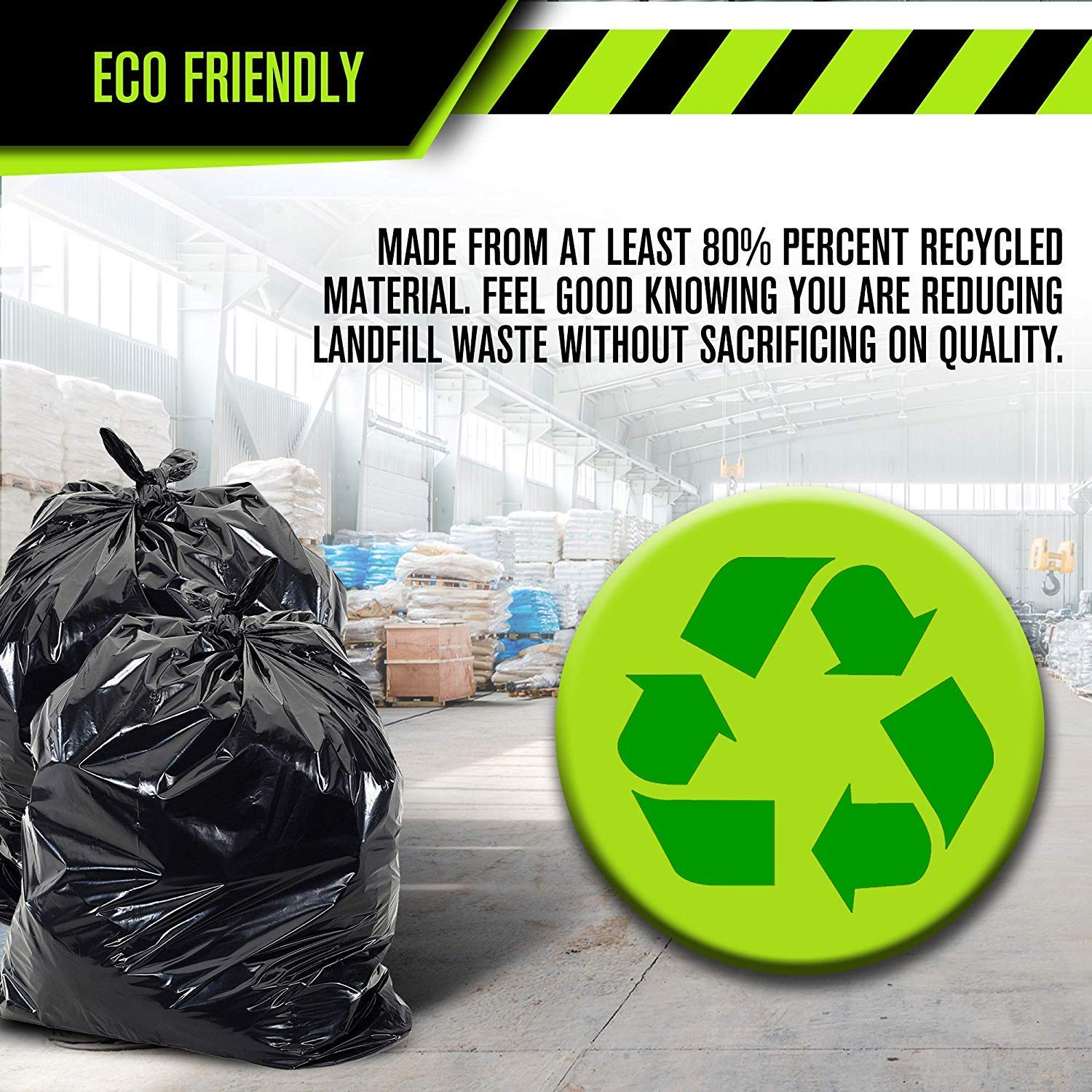 Garbage Bags for Toter 40-45 Gallon Trash Bags Heavy Duty - 33 x 48 Industrial - 2.0 MIL Thick Garage Commercial Lawn Contractors Construction Huge 100 Pack Kitchen Leaf Yard Waste