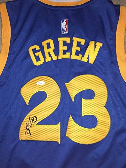 40cde2849 Image Unavailable. Image not available for. Color  Draymond Green  Autographed Signed Golden State Warriors Jersey ...