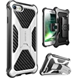 iPhone 7 Case, i-Blason Transformer [Kickstand] Apple iPhone 7 2016 Release [Heavy Duty] [Dual Layer] Combo Holster Cover case with [Locking Belt Swivel Clip] (White)