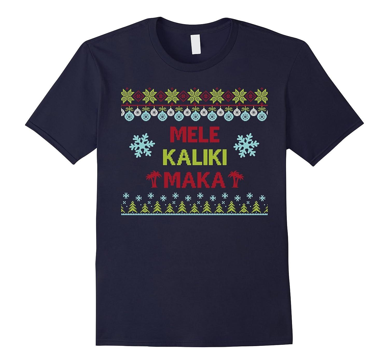 Mele Kalikimaka Hawaii Christmas Sweater Style Office Party-T-Shirt