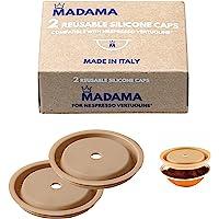 Madama - Herbruikbare dop voor Nespresso Vertuo en VertuoLine-capsules, hervulbaar en compatibel. Voedselveilig silicone…