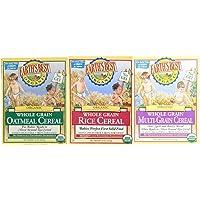 Earth's Best Organic Whole Grain Rice, Whole Grain Oatmeal & Multi-Grain Cereal (One 8 Oz Box of Each)