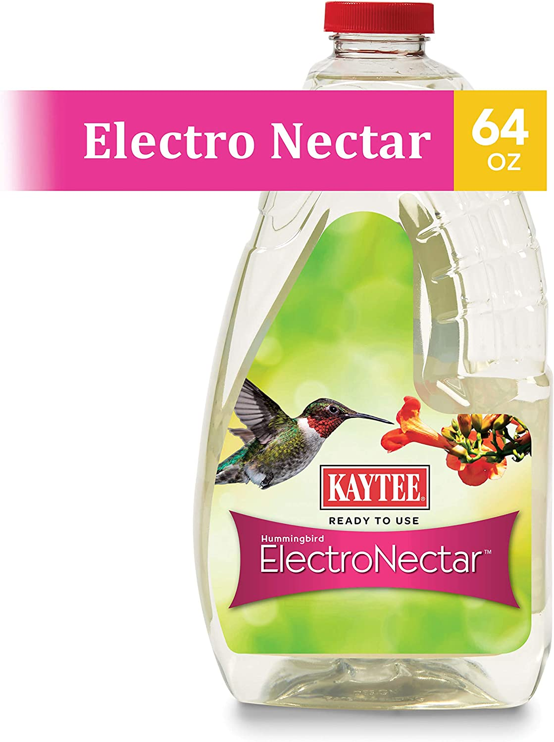 Kaytee 100506148 Hummingbird Ready to Use Nectar, 64 oz