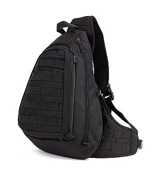 Protector Plus Tactical Sling Pack Backpack Military Shoulder Chest Bag  (Black) b25343b97