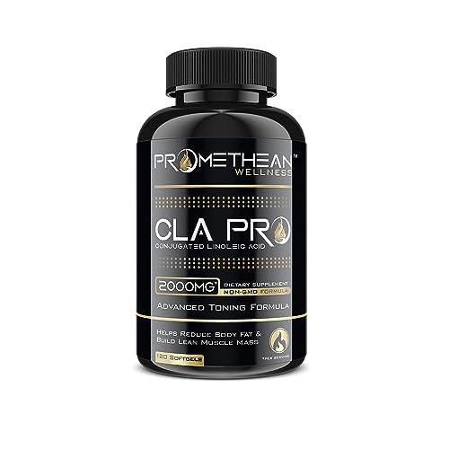 CLA PRO 2000 mg Pure Premium CLA Safflower Oil Conjugated Linoleic Acid 120 Count Softgels High Potency Optimum Dosage Best Belly Fat Burner Weight Loss Supplement for Men & Women 1250