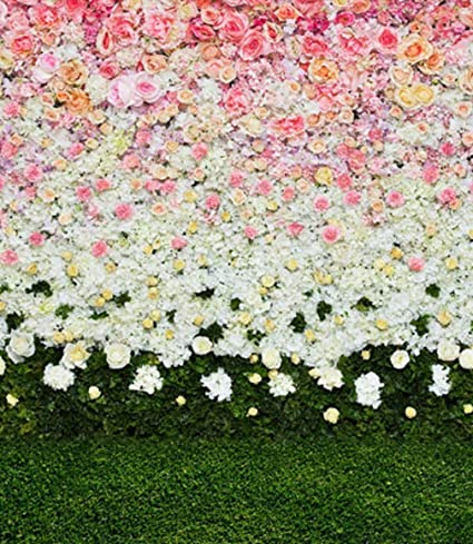 Amazon Spring Pink Floral White Flowers Green Grass Wedding