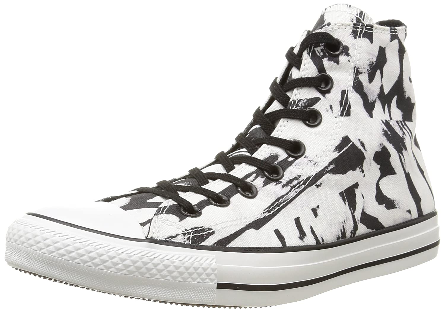 Converse All Star Hi Graphics - Zapatillas, Unisex 37.5 EU|Blanco / Negro
