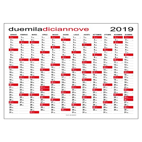 Calendario Annuale Da Stampare 2019.Calendario 2019 Planner 84x60 Cm Planning Da Muro Per Ufficio Spedito Arrotolato Senza Pieghe