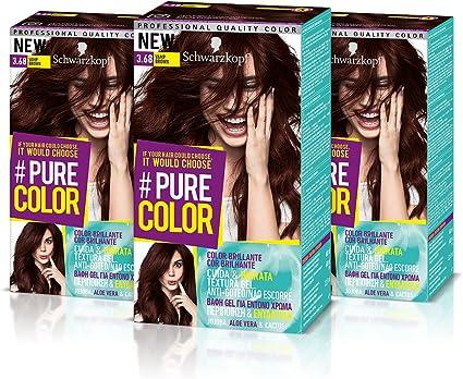 Schwarzkopf Pure Color Tinte Permanente 3.68 Vamp Brown